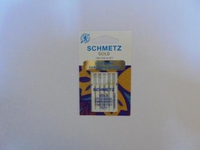 Иглы Schmetz Gold вышивальн.№75(5шт) 130/705 H-ET № 75 фото №2