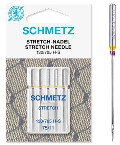 Иглы Schmetz стрейч. №75(5шт) стрейч. №75 фото №2