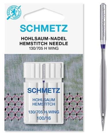 Иглы Schmetz для мережки №100 (1шт) 130/705 H WING № 100 фото №3