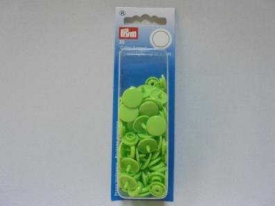 PRYM КНОПКИ LIGHT GREEN COLOR SNAPS 30шт. 12,4мм (арт.393144) 393144 фото №1