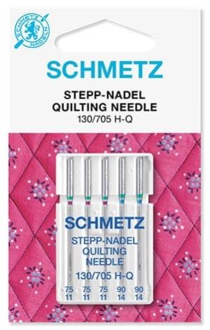 Иглы Schmetz для квилтинга №75-90(5шт) 130/705 H-Q № 75(3 шт), 90(2 шт) фото №1