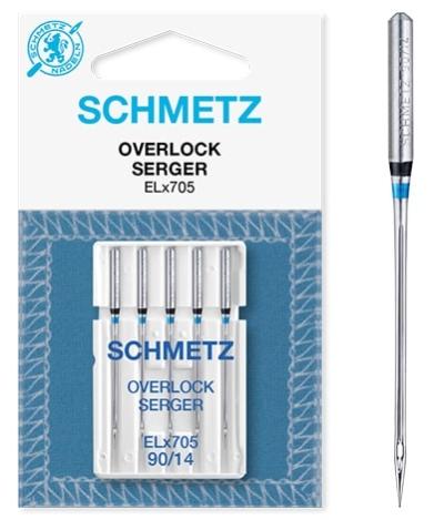 Иглы Schmetz EL*705 оверлочные №90 ELX705 оверлочные №90 фото №3