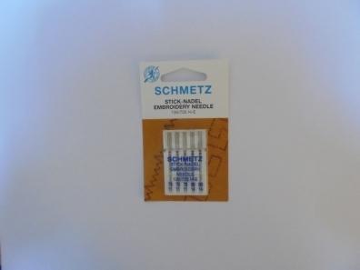 Иглы Schmetz вышивальные №75-90(5шт) 130/705 H-E № 75(3 шт), 90(2 шт) фото №3
