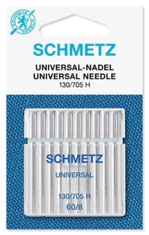 Иглы Schmetz универсальные №60 (10 шт.) 130/705 H № 60 10 шт фото №1