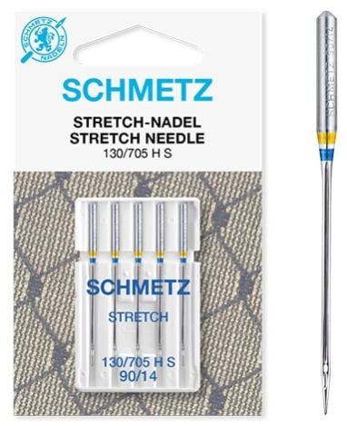 Иглы Schmetz стрейч. №90(5шт) стрейч. №90 фото №2