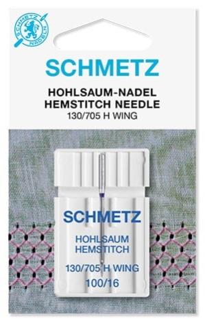 Иглы Schmetz для мережки №100 (1шт) 130/705 H WING № 100 фото №1