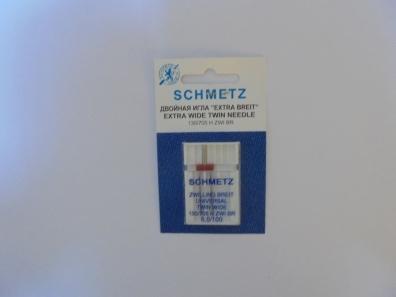 Игла Schmetz двойная №100/6(1шт) 130/705 H ZWI № 6,0/100 фото №3