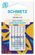 Иглы Schmetz Gold вышивальн.№75(5шт) 130/705 H-ET № 75 фото №4