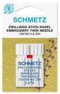 Иглы Schmetz двойные вышивальные №75/2.0 (1шт)