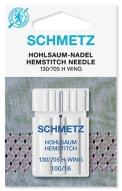 Иглы Schmetz для мережки №100 (1шт) 130/705 H WING № 100 фото №4